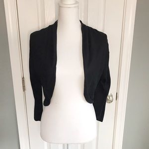 Deletta open front long sleeve sweater shrug, XS